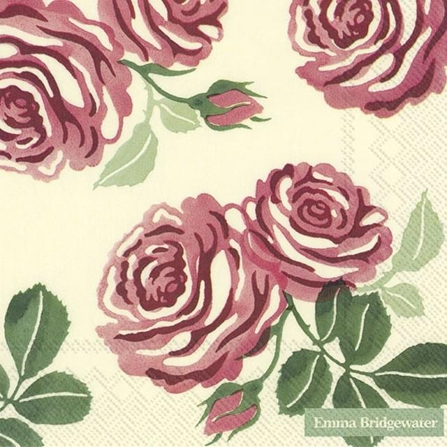 【Emma Bridgewater】バラ売り2枚 ランチサイズ ペーパーナプキン ROSES クリーム