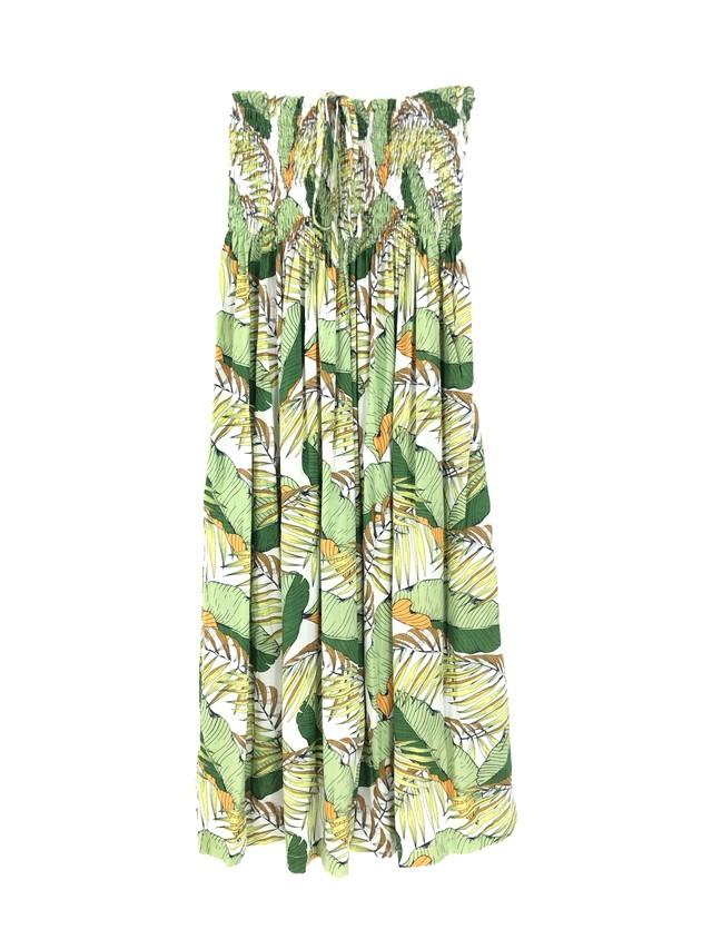 シャーリングドレス/スカート banana leaf green