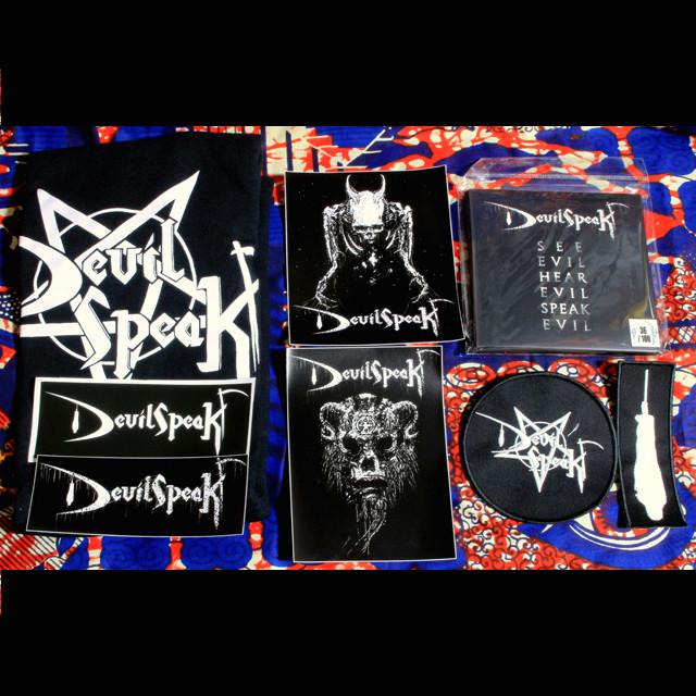 DEVILSPEAK『See Evil Hear Evil Speak Evil』MCD+限定Tシャツ、パッチ&ステッカー豪華セット!