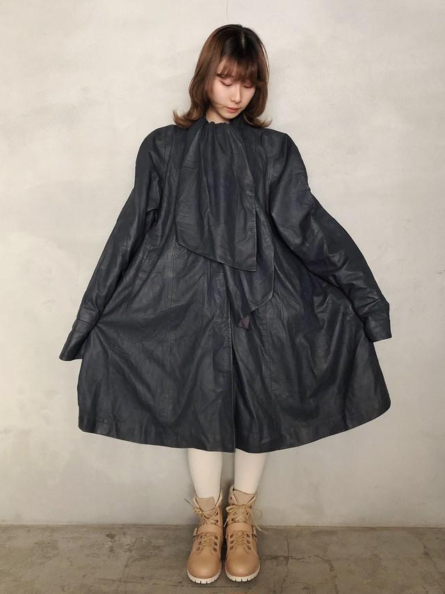 """""""ottimo"""" vintage leather coat"""