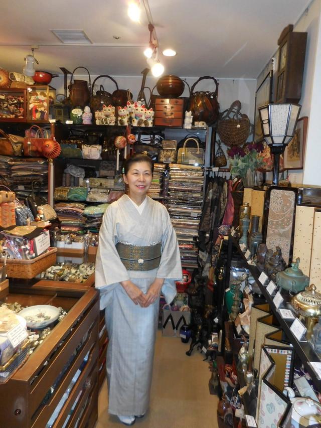 変わり紗袷訪問着 silk Kimono