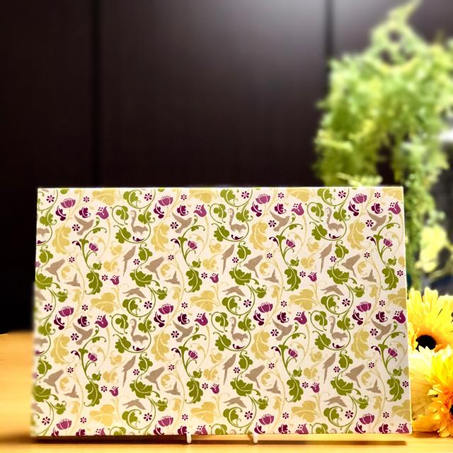 【flora and fauna B】 Brand Birds木製ファブリックパネル