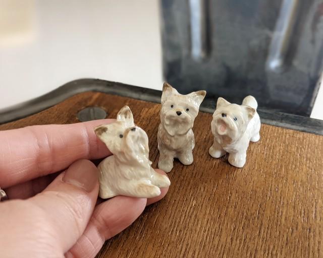 【ミニチュア陶器】 West Highland White Terrier~stand~