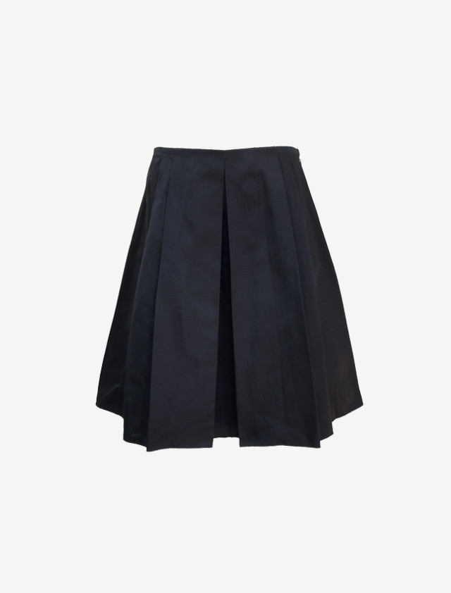 JIL SANDER NAVY SILK SKIRT