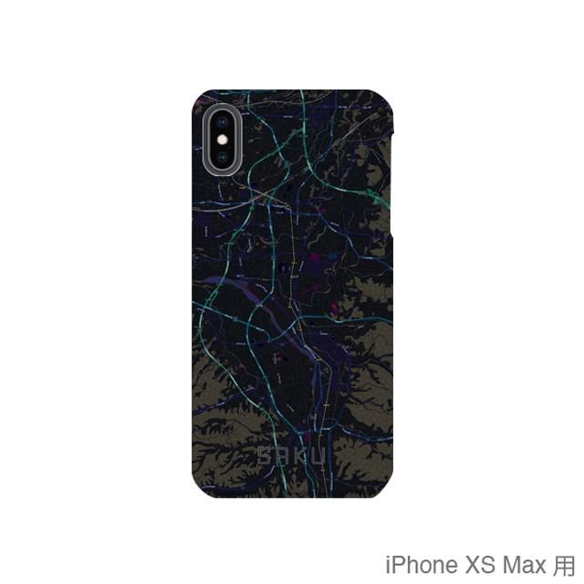 【佐久】地図柄iPhoneケース(バックカバータイプ・ブラック)