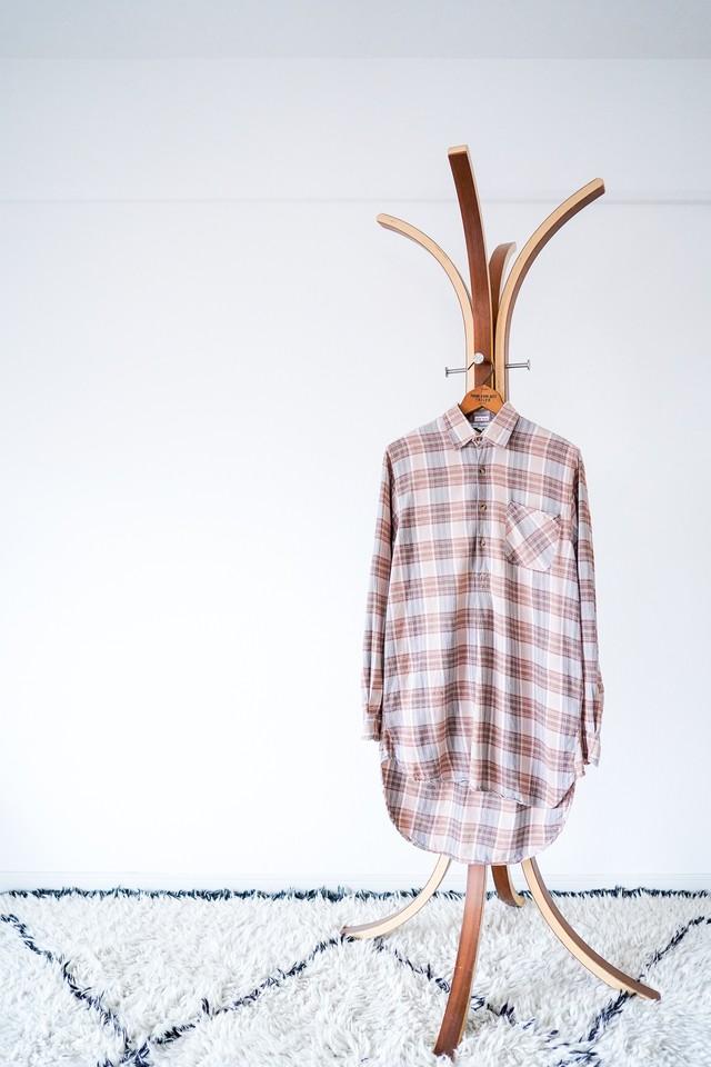 "【1950-60s】""French Made"" Euro Vintage Grandpa Shirts / v545"