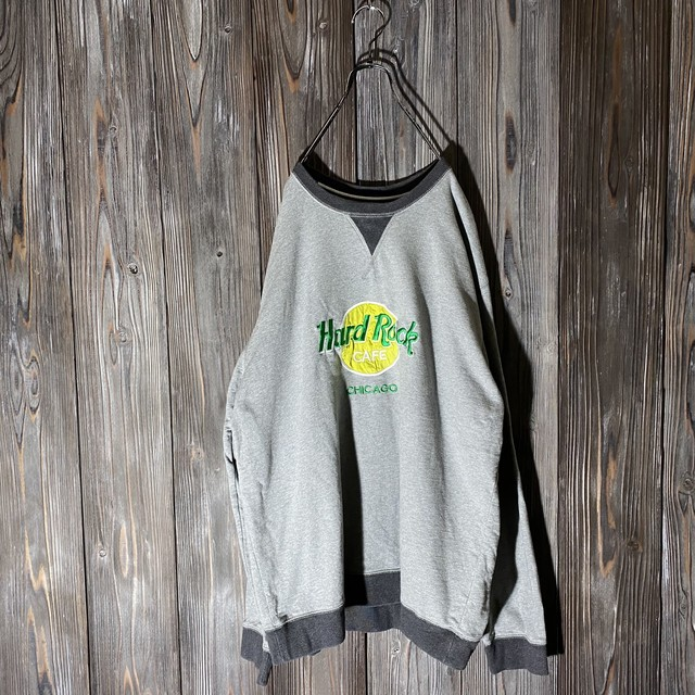 [Hard Rock Cafe]Chicago gray rare pattern  sweat