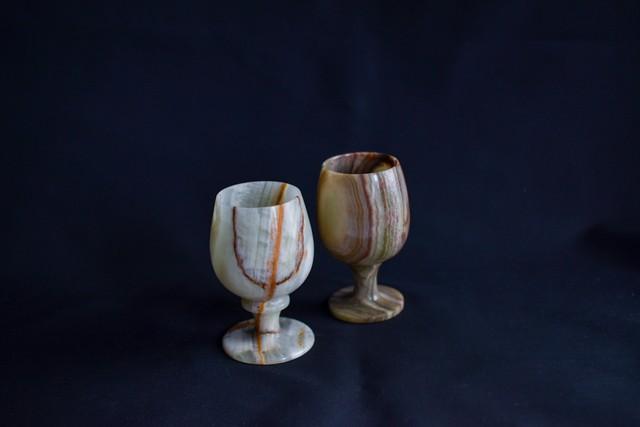 Onyx wine glass