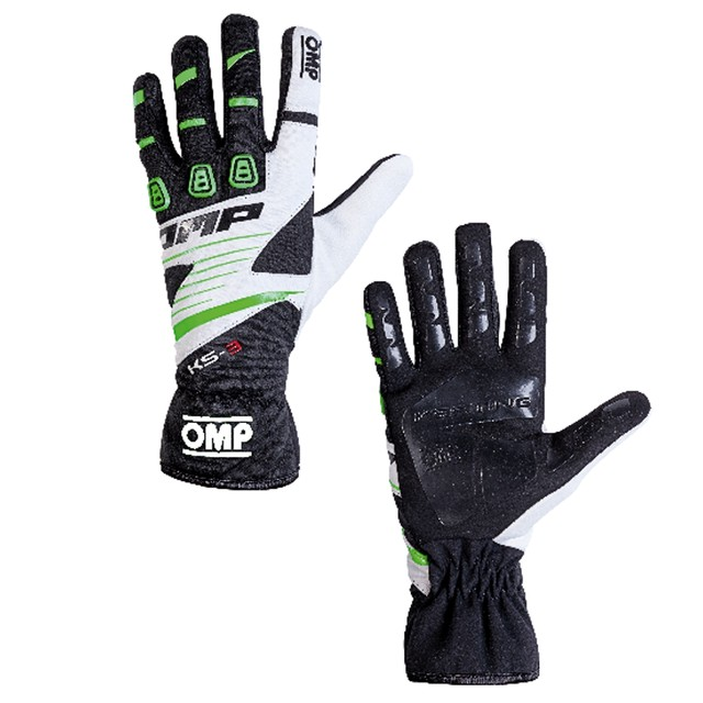 KK02743E270  KS-3 Gloves (Black/fluo green/white)