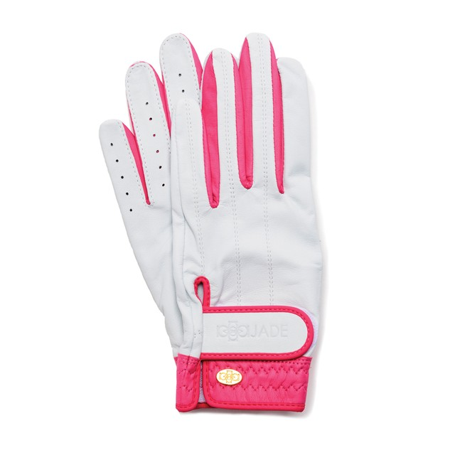 Elegant Golf Glove white-fuchsia