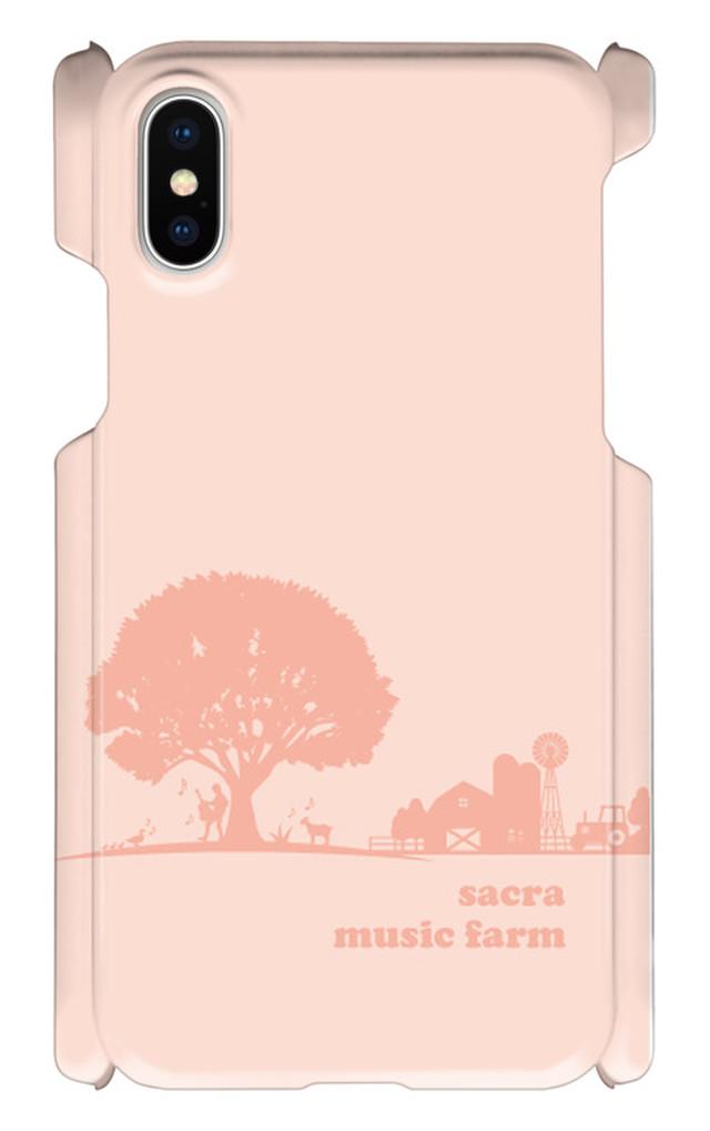 sacra music farm スマホケース(iPhoneX:イエロー)