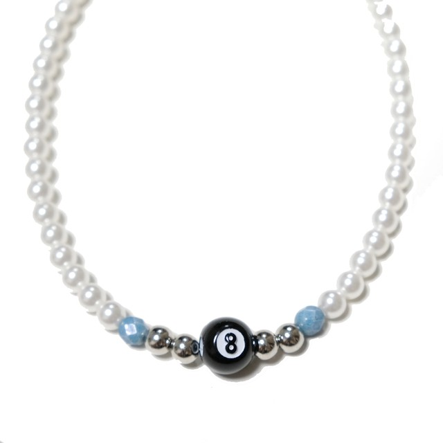 【Cat & Parfum】Eight Ball Beads Necklace