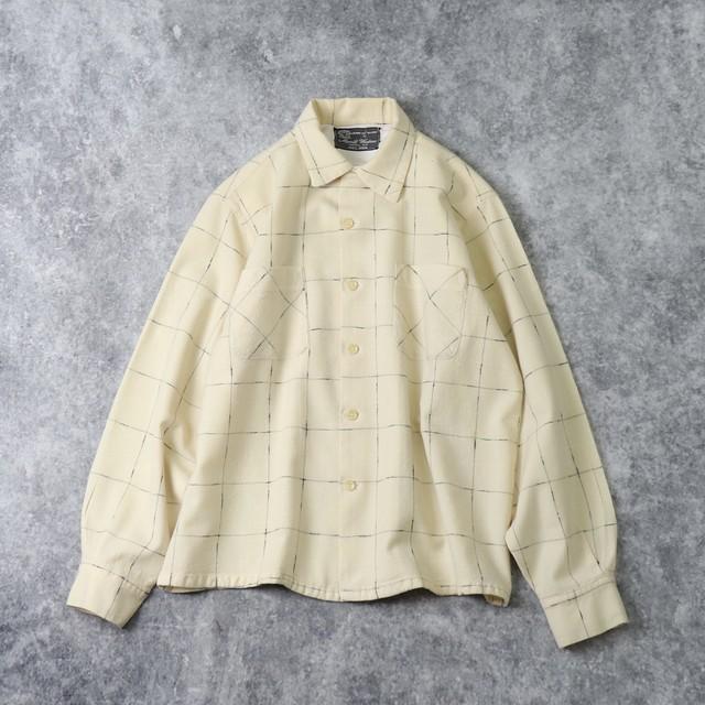 50年代 ''Merril Woolens'' オープンカラーシャツ ウールシャツ 古着 ロカビリー A410
