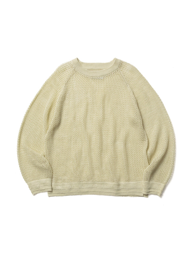 【FILL THE BILL】LINEN MESH PULLOVER KNIT