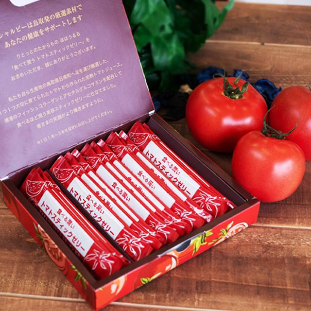 りとっとのたからもの ほほうるる 食べる潤いトマトスティックゼリー