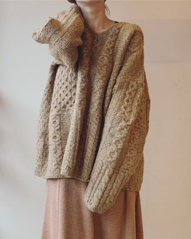 vintage Aran knit sweater