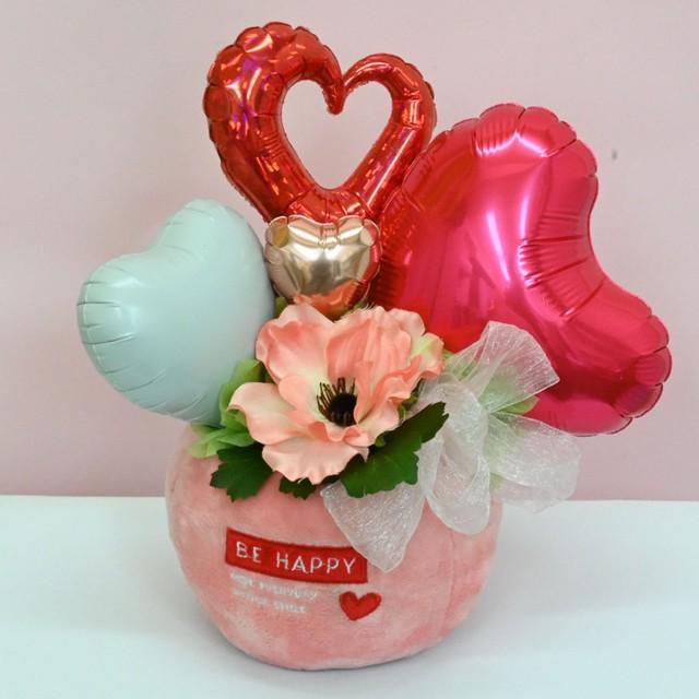 【バレンタイン】花×ハート【バルーンギフト】