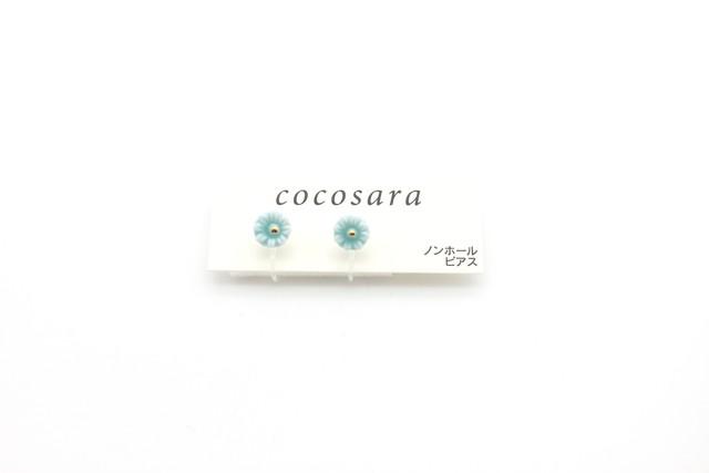 有田焼 ノンホールピアス  flower 15
