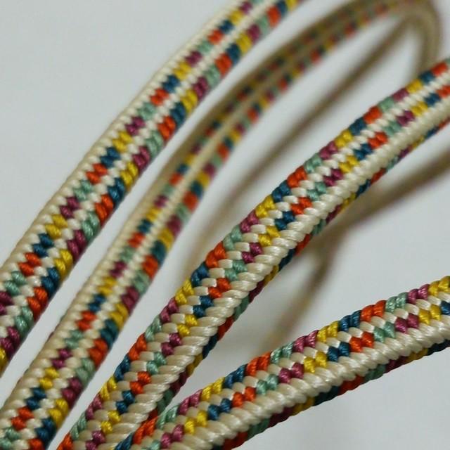 正絹帯締め 多色使いの飾り紐