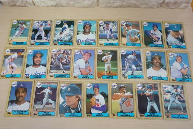 1986年ロサンゼルスドジャースのベースボールカードいっぱい!
