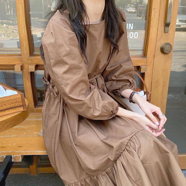 【送料無料】ナチュラル♪モテワンピ♡ワンピース ロング ティアード シンプル ナチュラル デート 女子会
