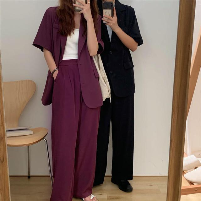 【送料無料】大人女子セットアップ♡セットアップ 2点セット ジャケット パンツ シンプル 着まわし オフィス デート 女子会