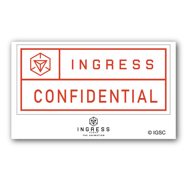 INGRESS THE ANIMATION GG3耐ステッカー CONFIDENTIAL