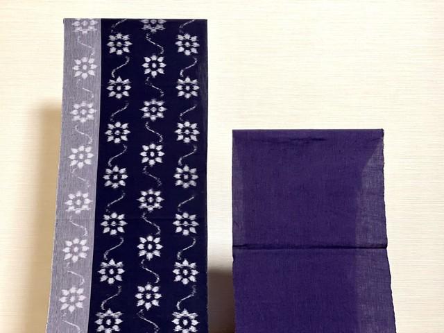 ✨期間限定特別販売✨【平織・紫細縞1m〜】