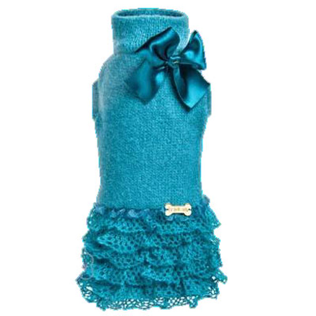 FOR PETS ONLY Posh Dress Teal (PT246)