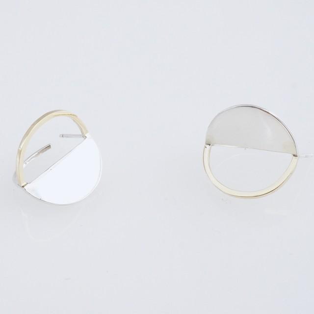 adachiyukari. / ピアス x(times) x/P-1 silver/gold