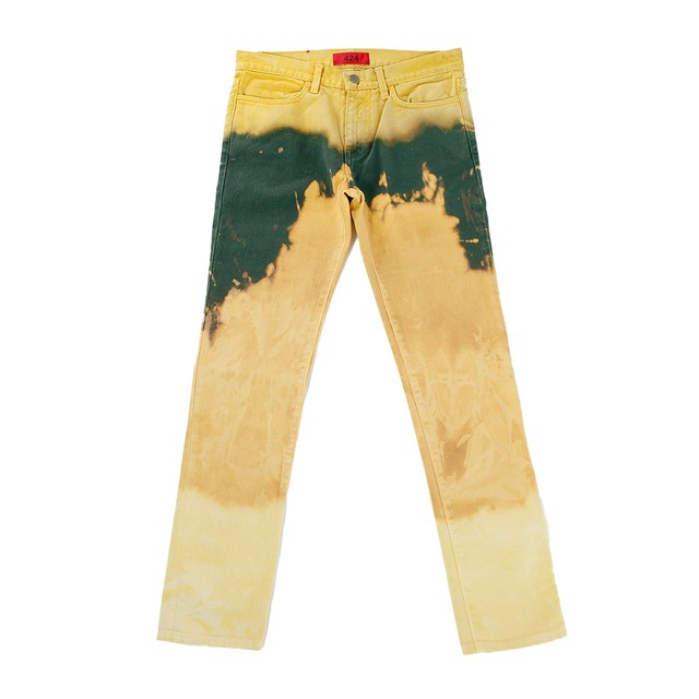 424 Bleach Denim Pants