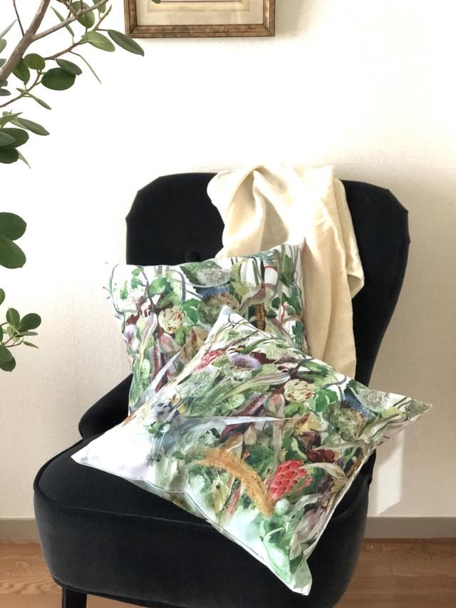 極楽鳥花 クッションカバー2枚セット - Bird of Paradise cushion cover