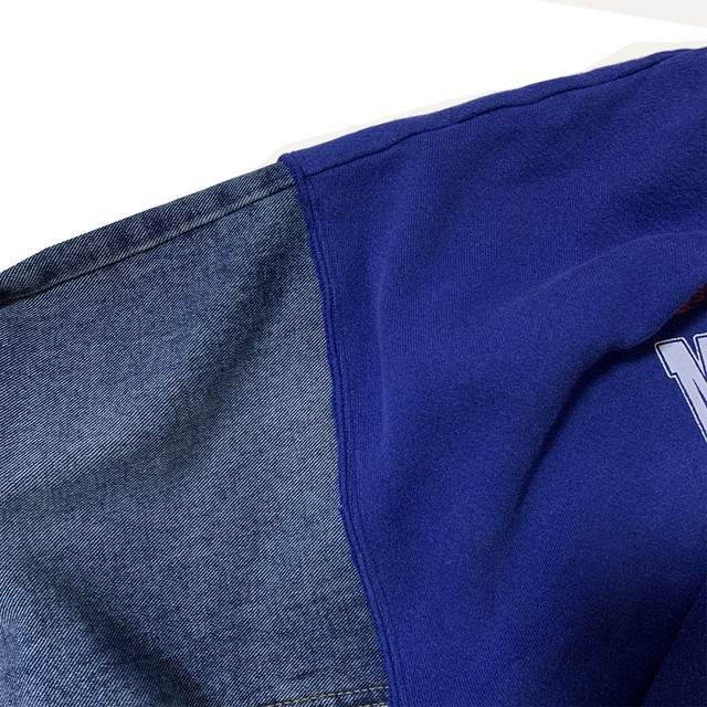 【Crudely Hommes】Rework College Sweat Tops