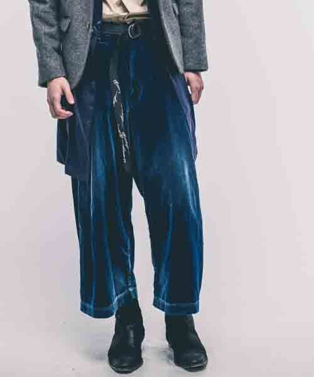 EFFECTEN(エフェクテン) velor tuck wide pants