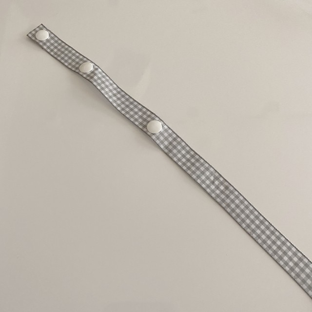 gingham mask strap(3 colors)