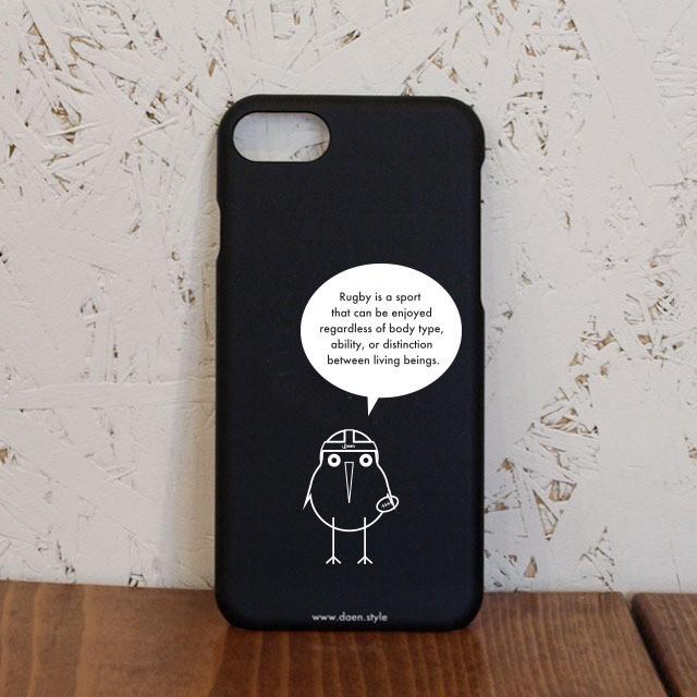 Sense & Spirit of Rugby iPhoneケース / BLACK /カリフラワーイヤーは勇気の証