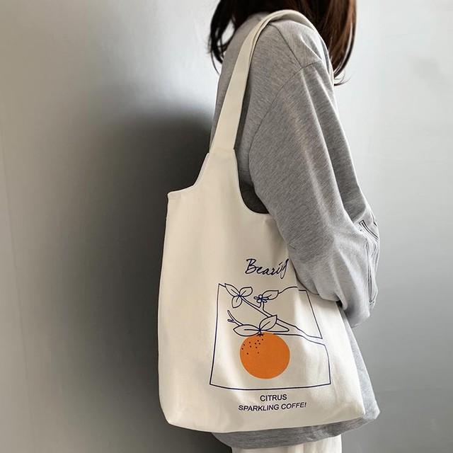 【バッグ】カジュアル 大容量 プリント 配色 マグネット トートバッグ27128295