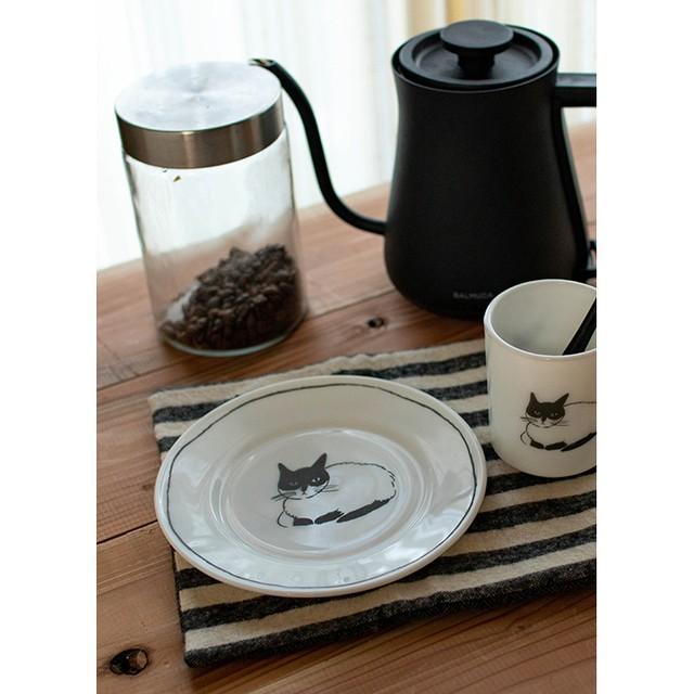 猫の食器ミルクガラスマグカップ/松尾ミユキさんイラスト