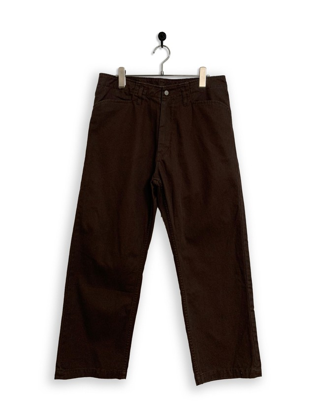 13.5oz Canvas Frisco Pants / garment dyed / black