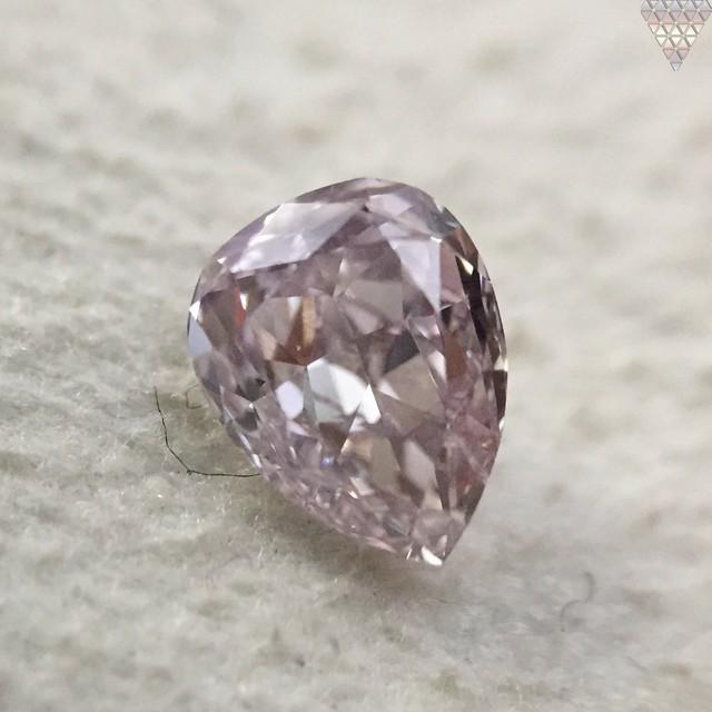 0.37 ct FANCY BROWNISH PURPLISH PINK I1 PEAR GIA 天然  ダイヤモンド ルース