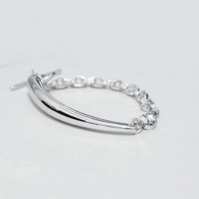 in a row / Bangle - silver