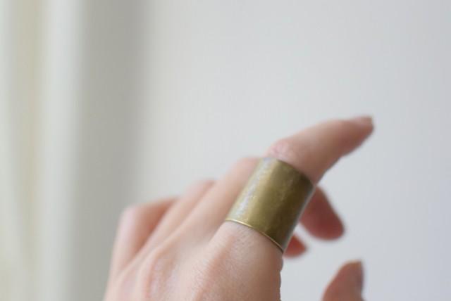 毎日つけたい真鍮のリング