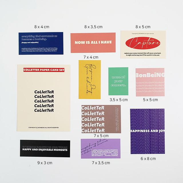 [BONBEING] COLLETTER ペーパーカードパック