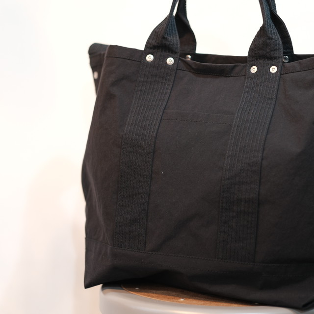 ENDS and MEANS(エンズ アンド ミーンズ)2way Tote -Black- #EM-ST-A01-AW19