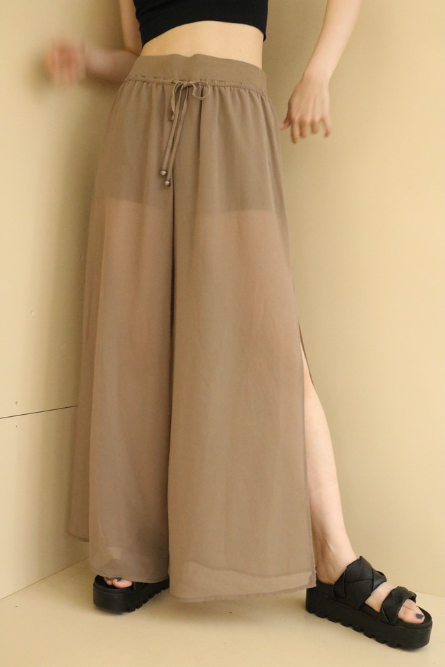 see-through pants / 7SSPT14-10