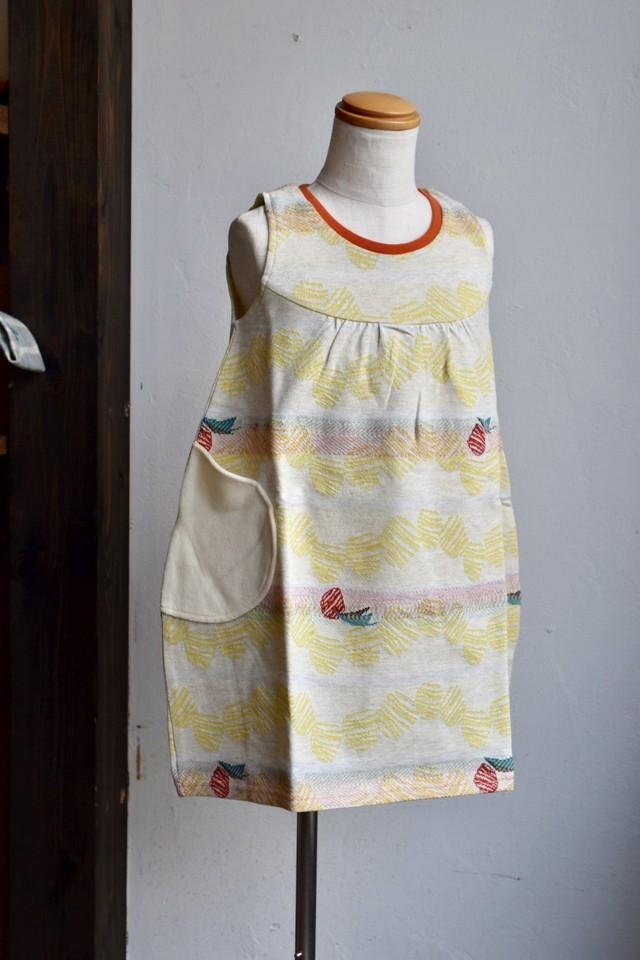 【ワンピース】sora no oto/イエロー/original textile