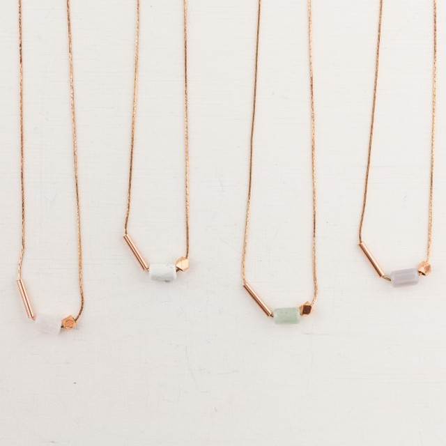 ◇STATE OF A◇ Necklace short Gem Tube asymmetrical big(Item No 10809)