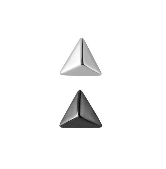 三角スタッドピアス   スタッズ   シルバー925   メタリック   シンプル   金属アレルギー