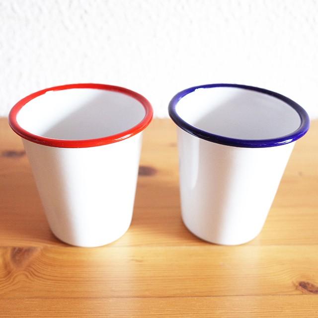 ホーロー タンブラー(レッド、ブルー) 琺瑯 コップ カップ