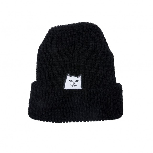 RIPNDIP リップンディップLORD NERMAL RIBBED BEANIE(black)